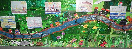 community history collage of the crinan canal