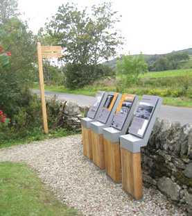 interpretation panels at lady glassary