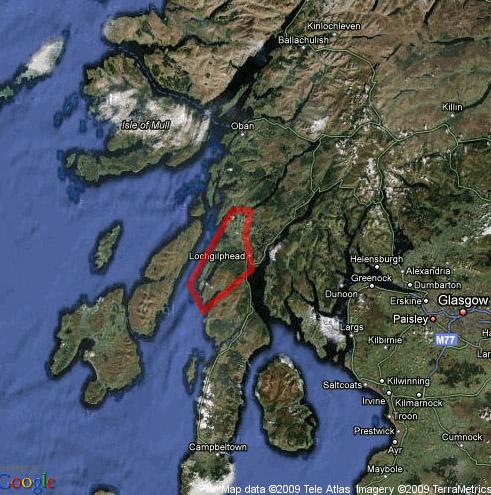 map of dalriada area